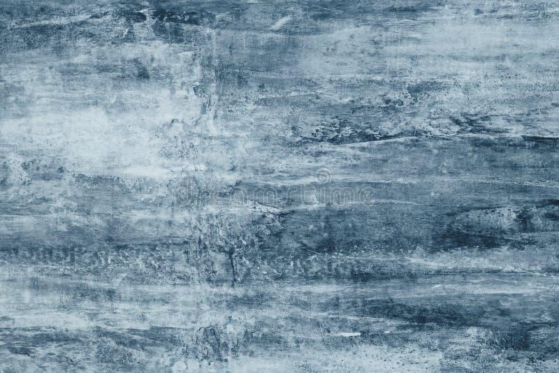 Manchas blancas /negras azules en una lona gris Manchas azules de la pintura en la pared Modelo abstracto del estilo de la acuare imágenes de archivo libres de regalías