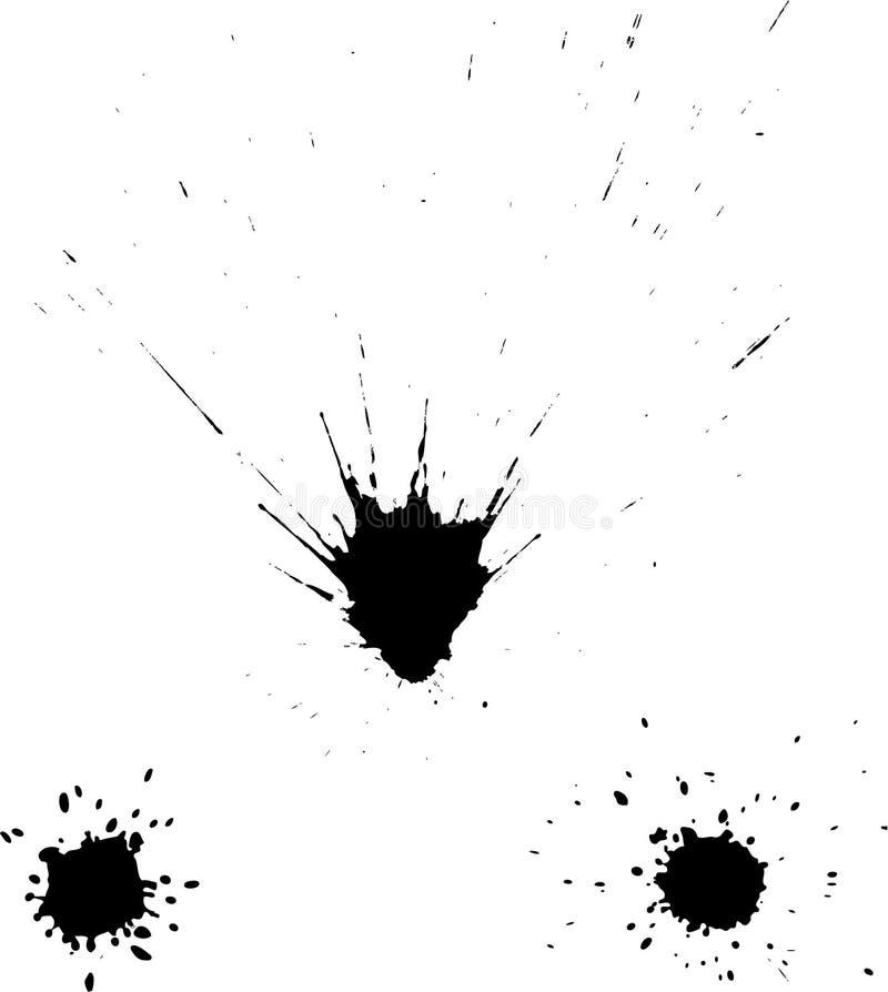 Manchas blancas /negras de la tinta stock de ilustración