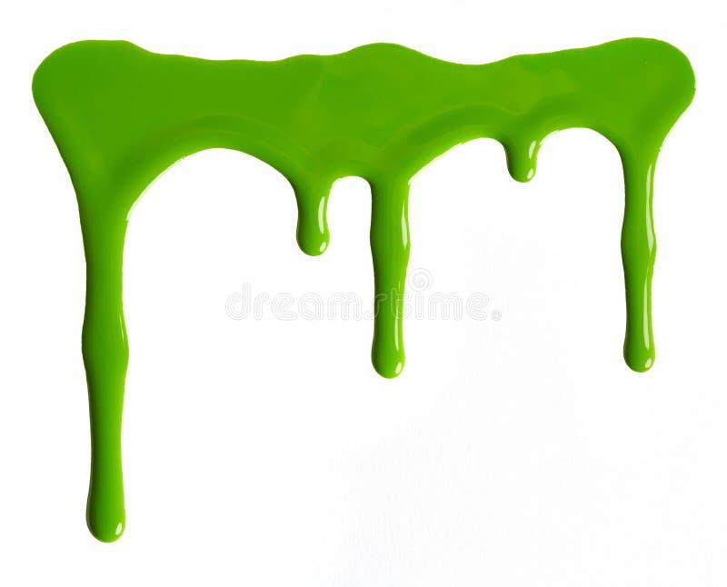 Manchas Blancas /negras Del Esmalte De Uñas Verde Imagen de archivo ...