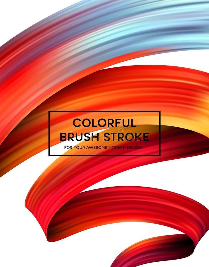 Manchas brilhantes da pintura da cor para o cartaz moderno Projeto de Tranding Ilustração do vetor ilustração do vetor