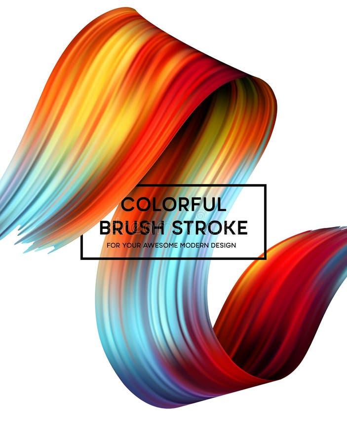 Manchas brilhantes da pintura da cor para o cartaz moderno Projeto de Tranding Ilustração do vetor ilustração stock