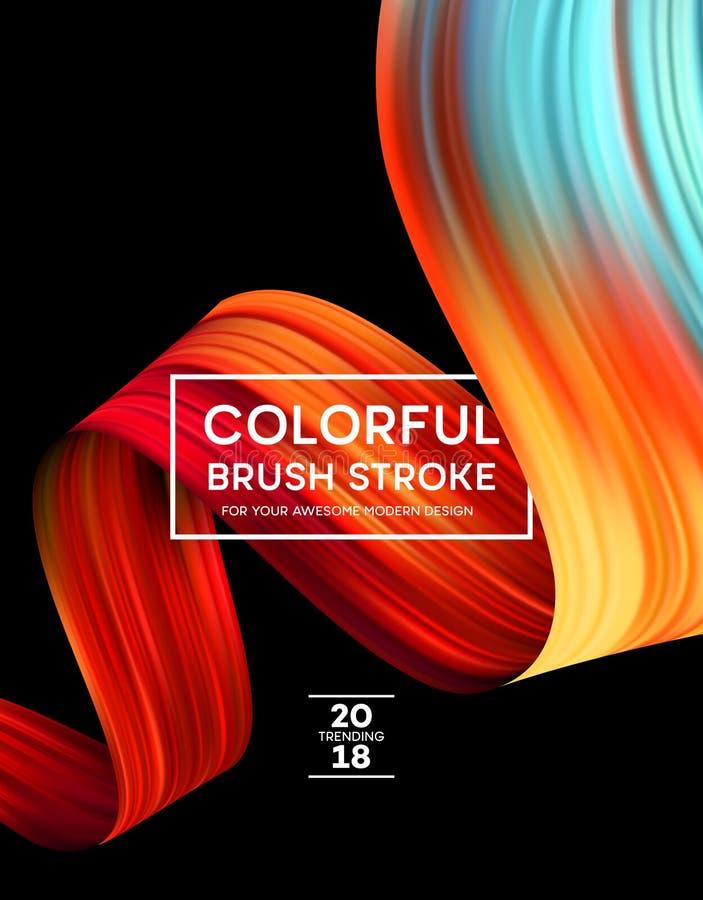 Manchas brillantes de la pintura del color para el cartel moderno Diseño de Tranding Ilustración del vector libre illustration