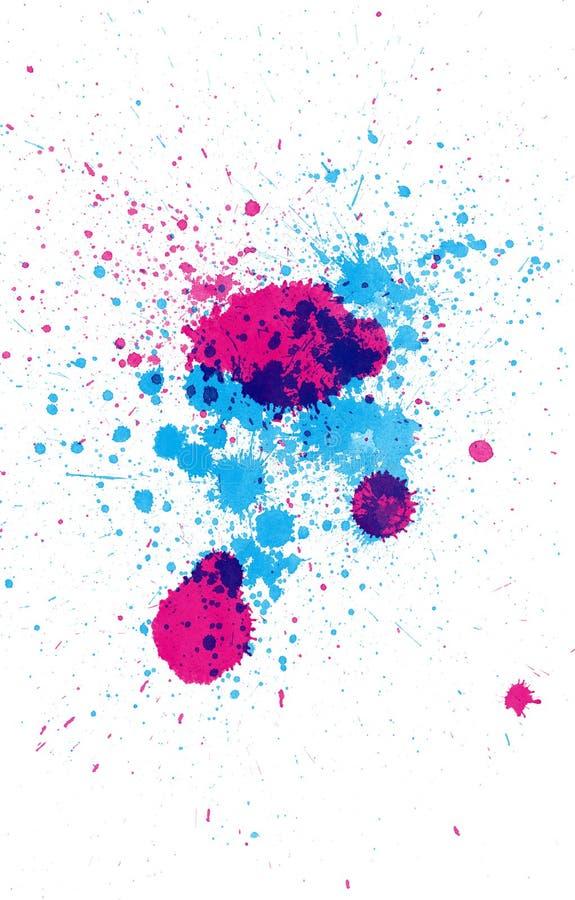 Manchas coloridas da tinta ilustração do vetor