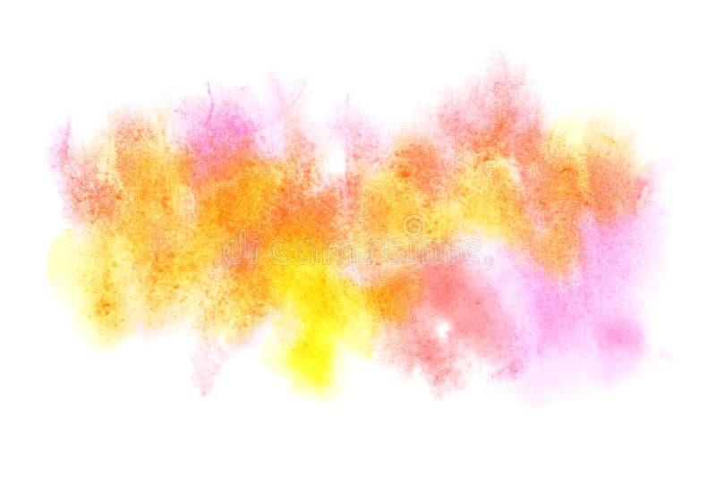 Manchas coloridas de la acuarela ilustración del vector