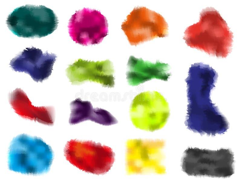 Manchas da aguarela ilustração do vetor