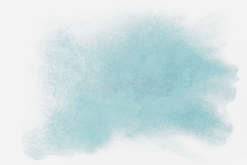Manchas da aquarela, cursos de máscaras azuis Fundo abstrato da aguarela Máscaras delicadas do inverno macio, neve ilustração do vetor