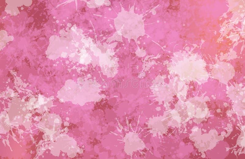 Manchas da imagem do conformig da pintura da cor roxa ilustração stock