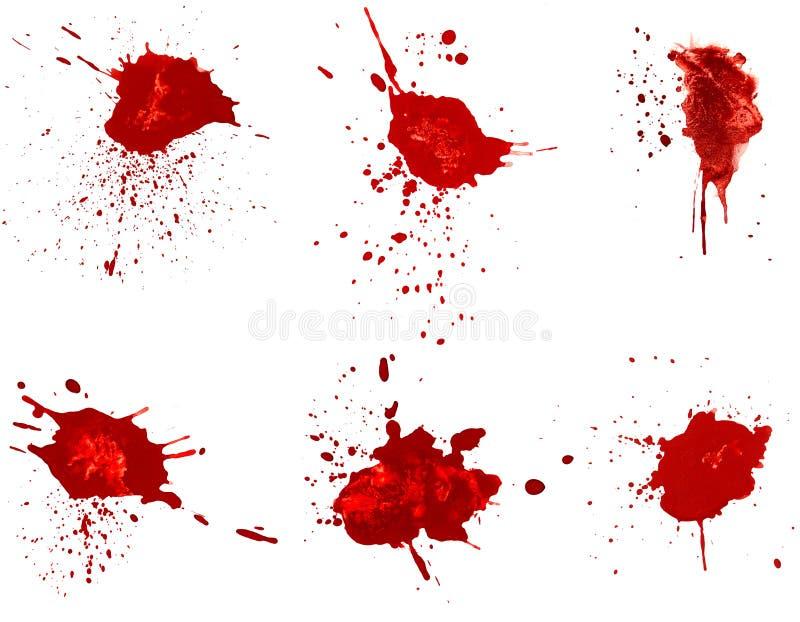 Manchas de óxido de sangre ilustración del vector