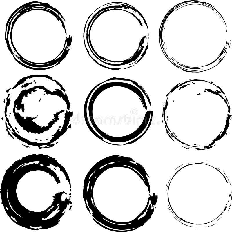 Manchas de óxido vectorizadas del café ilustración del vector