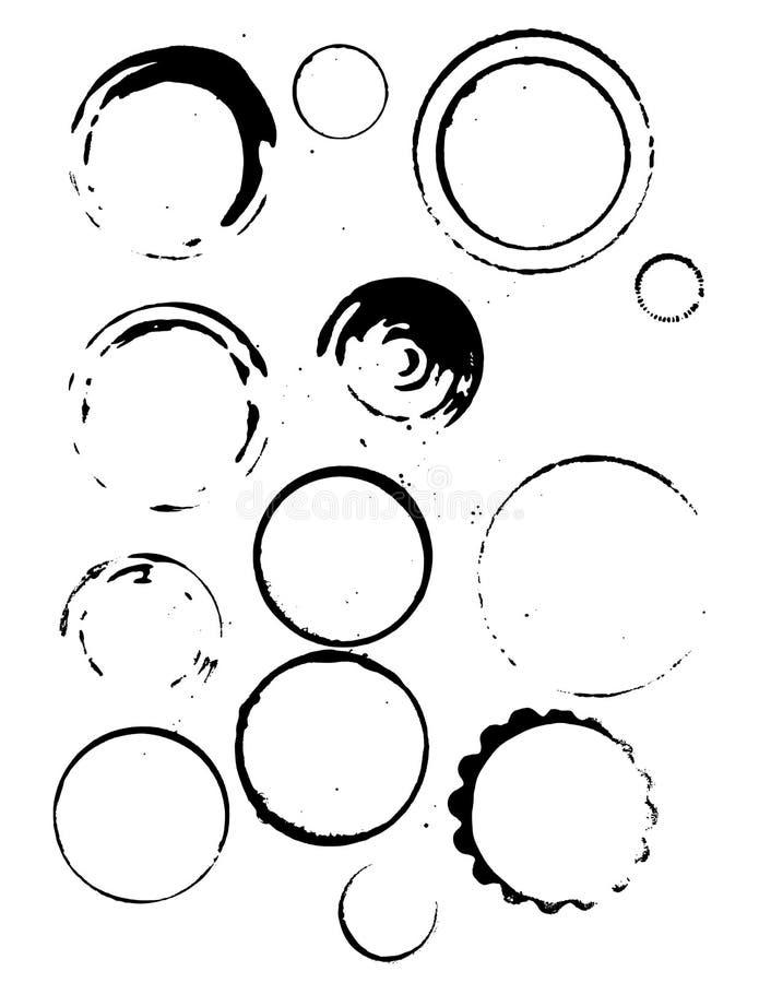 Manchas de óxido vectorizadas del café libre illustration