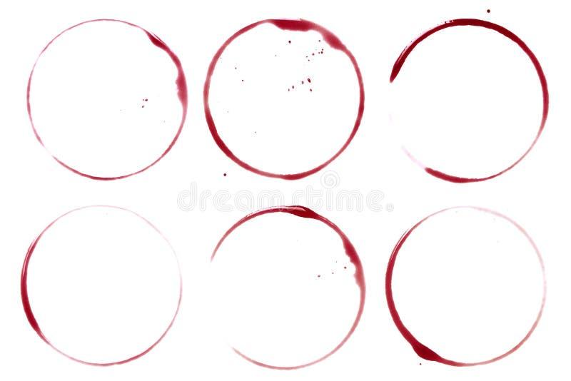 Manchas de óxido y puntos del vino