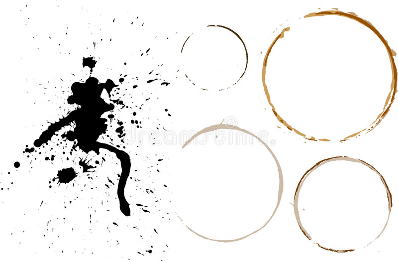 Manchas de óxido y splats libre illustration