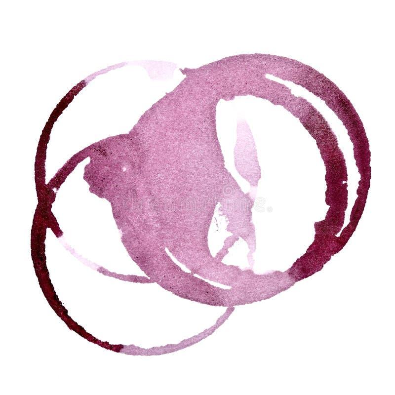 Manchas de la copa de vino stock de ilustración