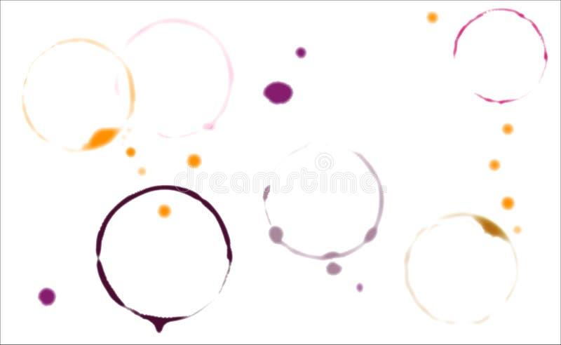 Manchas de la sobremesa stock de ilustración