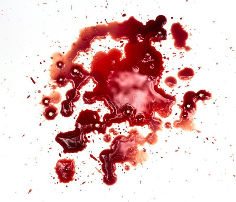 Manchas de sangue no branco imagem de stock royalty free