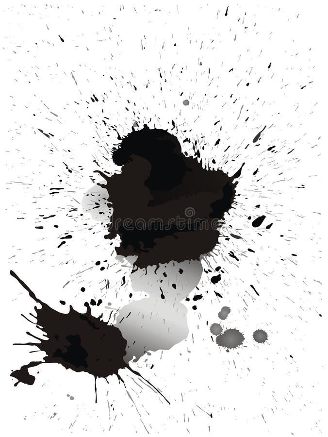 Manchas de tinta da aguarela ilustração do vetor