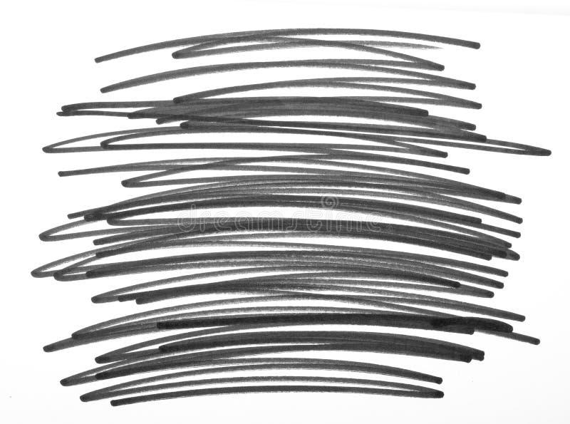 Manchas dibujadas mano del garabato fotos de archivo