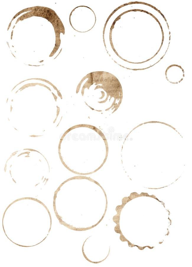 Manchas do copo ajustadas imagens de stock