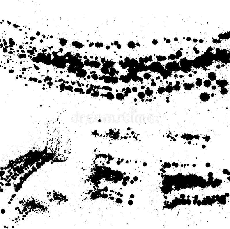 Manchas do Grunge ilustração stock