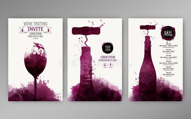 Manchas do vinho do fundo dos moldes do projeto ilustração royalty free