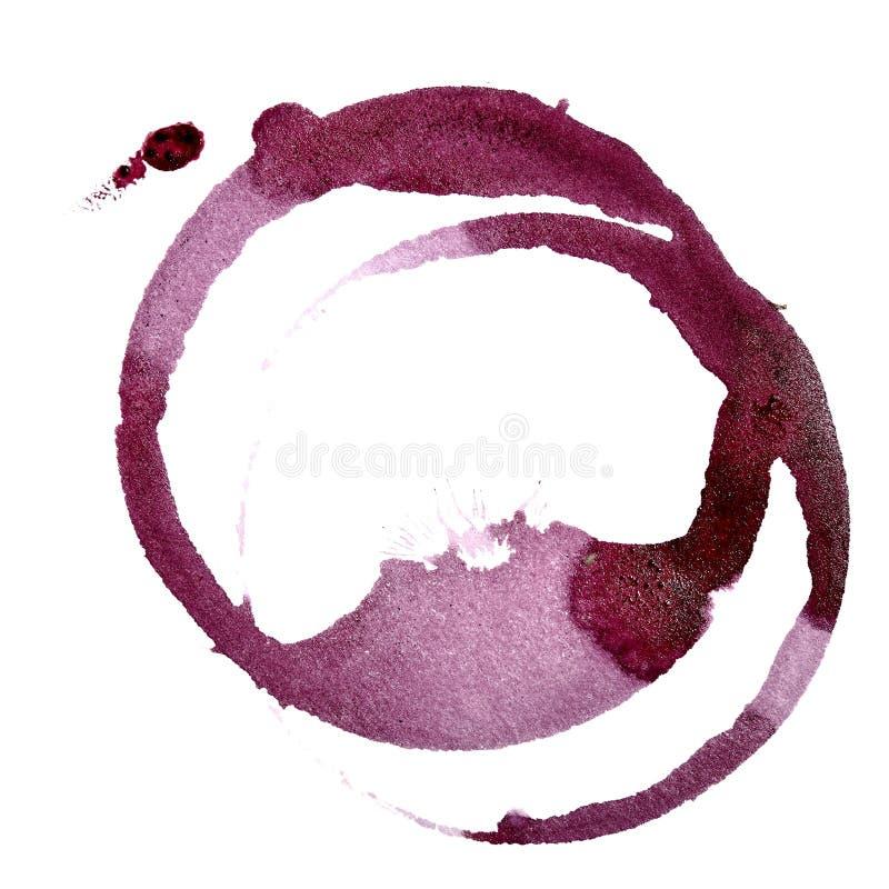 Manchas do vinho tinto ilustração royalty free