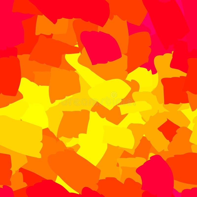 Manchas vermelhas e amarelas abstratas sem emenda ilustração stock