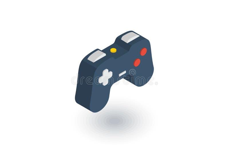 Manche, ícone liso isométrico do jogo vetor 3d ilustração do vetor