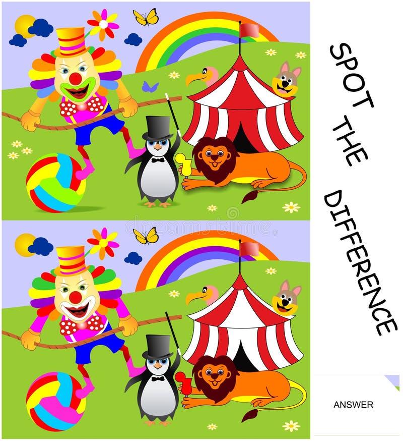 Manche a diferença ilustração stock