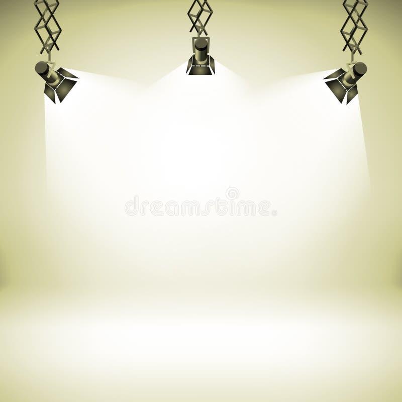 Manche el ejemplo realista interior del vector del fondo 3d del club del teatro abstracto ligero de la galería libre illustration