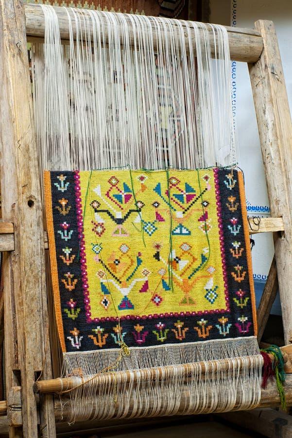 Manche en bois avec du tapis photos stock