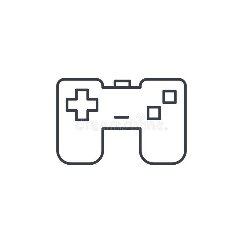 Manche, linha fina ícone do jogo Símbolo linear do vetor ilustração stock