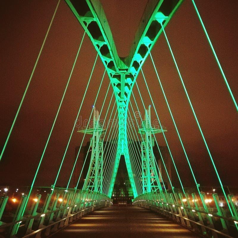 Manchester bridge royalty free stock photo