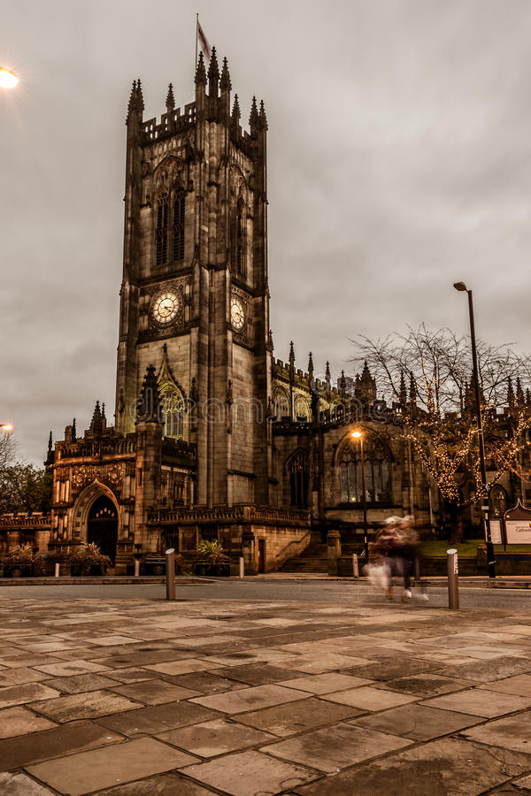 Manchester Cathedral B. ENGLAND, MANCHESTER - 15 NOV 2015: Manchester Cathedral B royalty free stock image