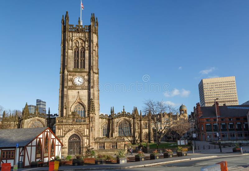 Manchester cathedral uk royalty free stock photography