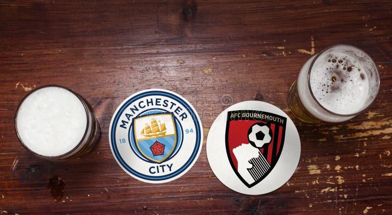 Manchester City contre bournemouth photographie stock libre de droits