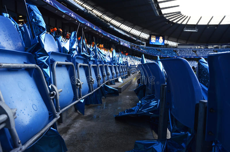 Manchester City - Etihad Stadium seats royalty free stock images