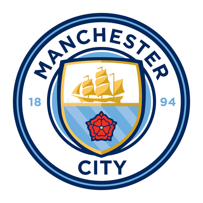 Manchester City F.C. Manchester, England Feb 25, 2017: Vector illustration of Manchester City F.C. logo