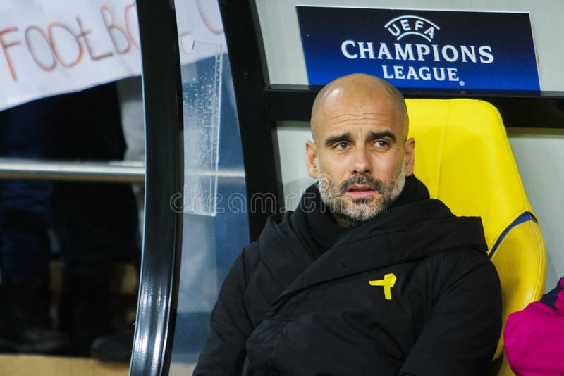 Manchester City F.C. Head Coach Pep Guardiola royalty free stock image