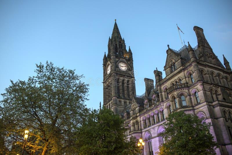 Manchester City Hall royaltyfri bild