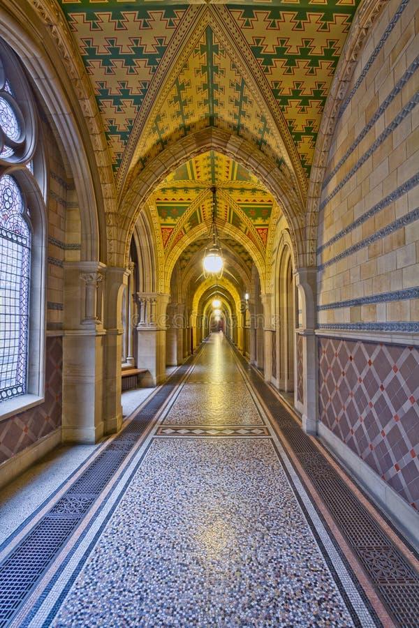 Manchester City Hall Corridor royalty free stock photography