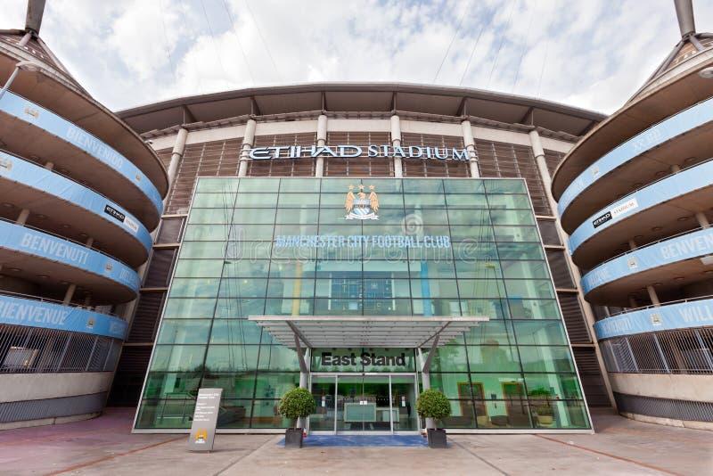 Manchester City Stadion stockbilder