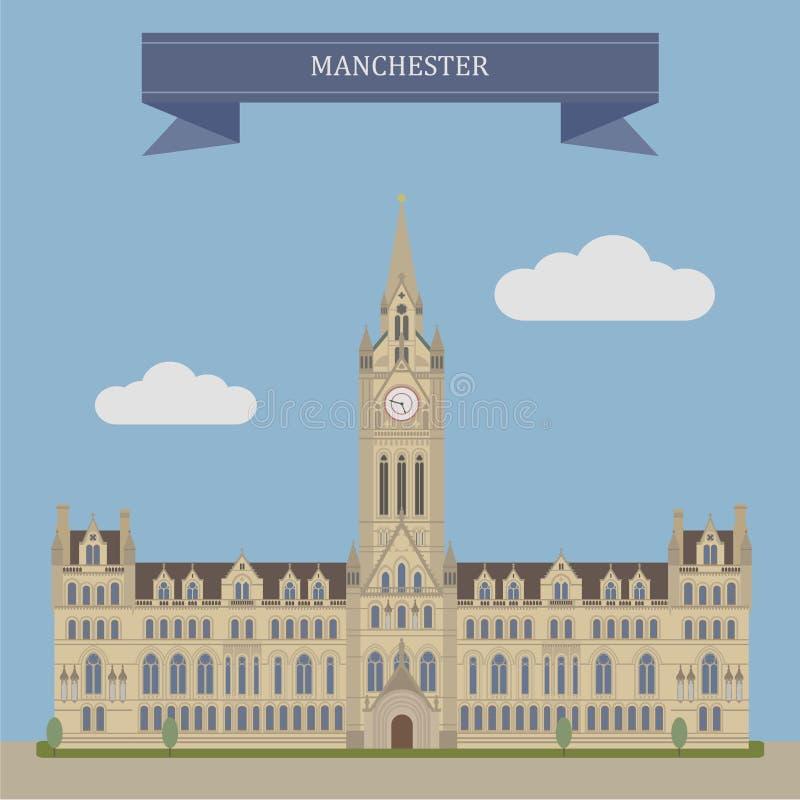 Manchester, Engeland vector illustratie