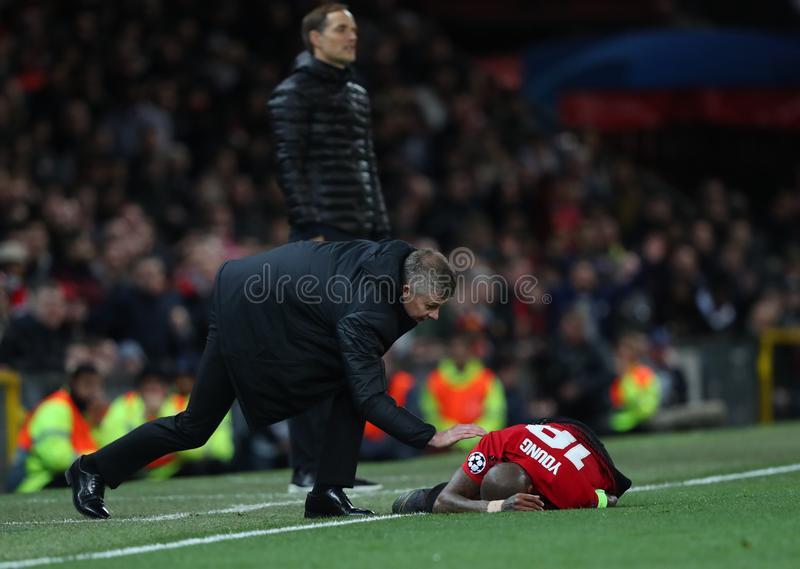 Manchester United v Paris Saint-Germain - UEFA Champions League Round of 16: First Leg royalty free stock images