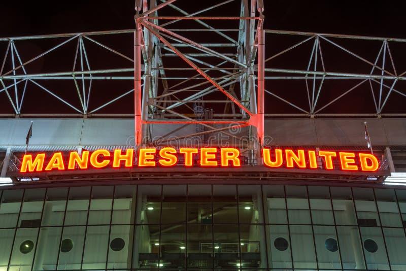 MANCHESTER, ENGLAND - September 29, 2017: Stadium Old Trafford w stock photo