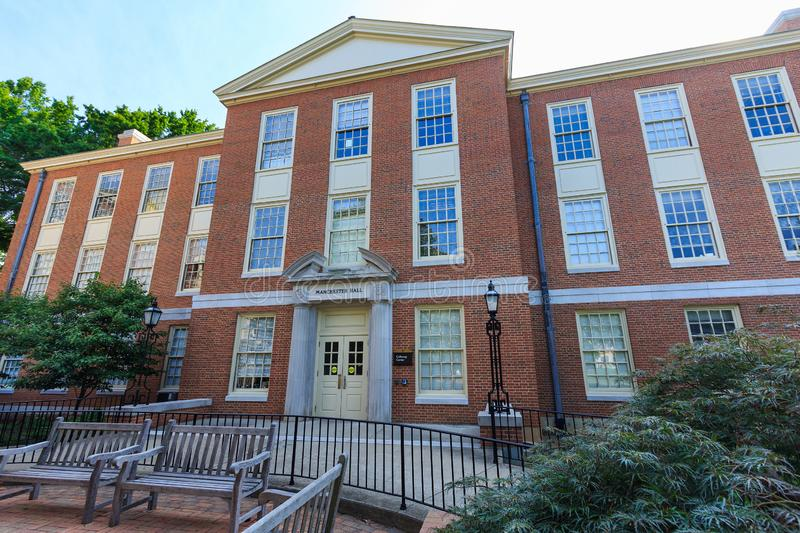 Manchester Hall at Wake Forest University. WINSTON-SALEM, NC, USA: Manchester Hall on July 12, 2015 at Wake Forest University in Winston-Salem, North Carolina stock photos