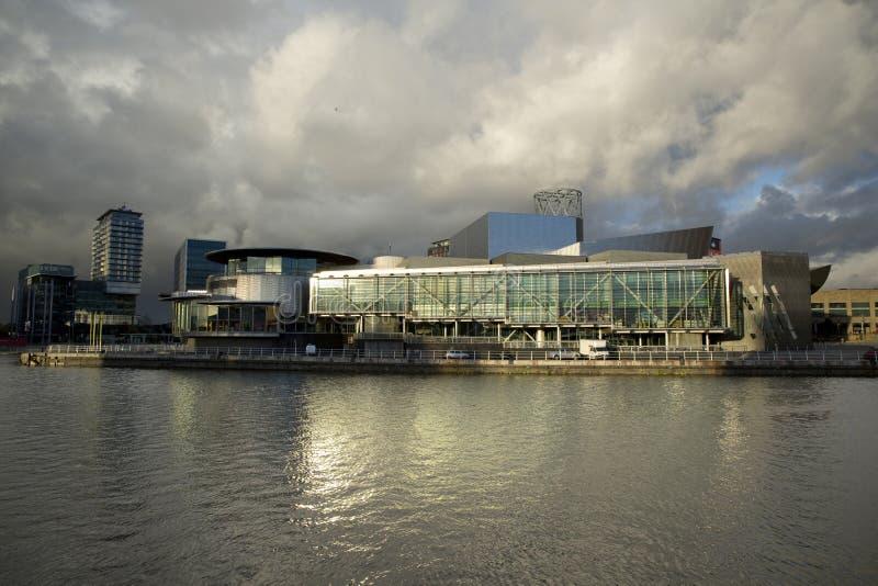 Manchester, maggior Manchester, Regno Unito, ottobre 2013, vista della galleria di arte di Lowry in Salford fotografia stock