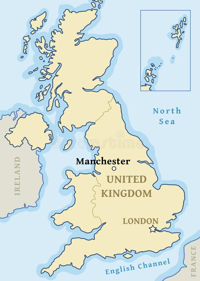 Manchester map location stock illustration