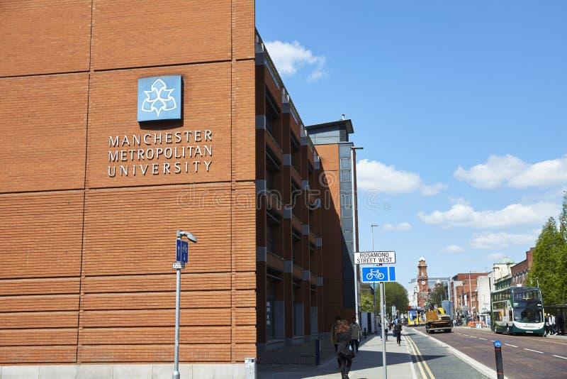 Manchester, R-U - 4 mai 2017 : Bâtiments métropolitains de campus universitaire de Manchester image libre de droits