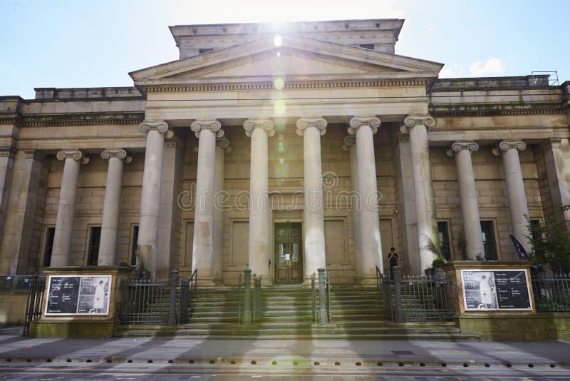Manchester, Regno Unito - 4 maggio 2017: Esterno di Manchester Art Gallery fotografia stock libera da diritti