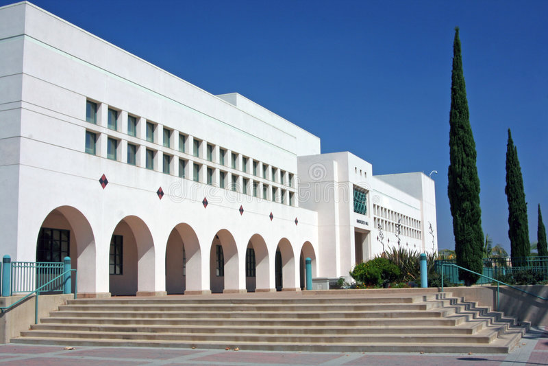 Manchester Salão na universidade de estado de San Diego fotografia de stock royalty free